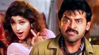 Venkatesh, Anjali Zaveri & Narayana Gets Drunk | Comedy Scene - LEHRENTELUGU
