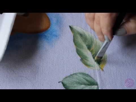 Pintura em tecido Eliane Nascimento: Como eu pinto folhas