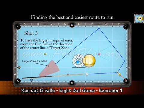 8-Ball Game situation #1 - How to Run Out - Pool & Billiard Training Lesson