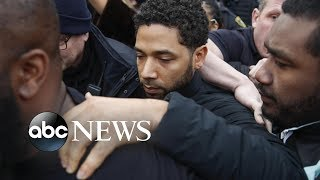 Jussie Smollett, out on bond, addresses 'Empire' cast - ABCNEWS
