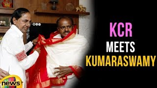 CM KCR Meets JDS Chief Kumaraswamy And Wishes For His Swearing in Ceremony | Mango News - MANGONEWS