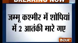 J-K: 2 terrorists killed in encounter in Shopian; 3 jawans injured - INDIATV