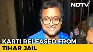 Karti Chidambaram, Arrested In Corruption Case, Walks Out Of Tihar Jail - NDTV
