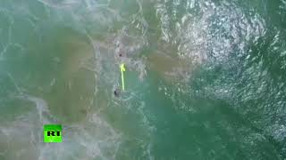New era of rescue services? Drone saves two swimmers in 'world first' - RUSSIATODAY