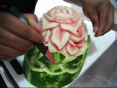 ☆ ARTE MUKIMONO 2. TALLADO DE FRUTAS (Con Sandía) ☆ Colegio de Chef & Sommelier ☆