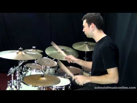 Paradiddles On The Drum Kit - Demonstration