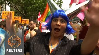 Thousands flood Berlin streets for Christopher Street Day - REUTERSVIDEO