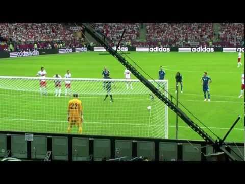 Obroniony karny Tytoń / Tyton penalty save (8.06.2012, Polska - Grecja)