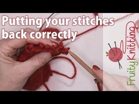 Putting your stitches back correctly