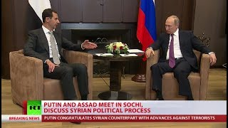 Putin & Assad confirm military op in Syria is at last stage, leaders meet in Sochi - RUSSIATODAY