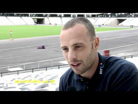 Oscar Pistorius - Olympic Stadium sneak preview - FULL INTERVIEW - Sportsvibe TV