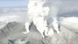 انفجار بركان جبل أونتاك في اليابان بعد 25 عاما من السكون