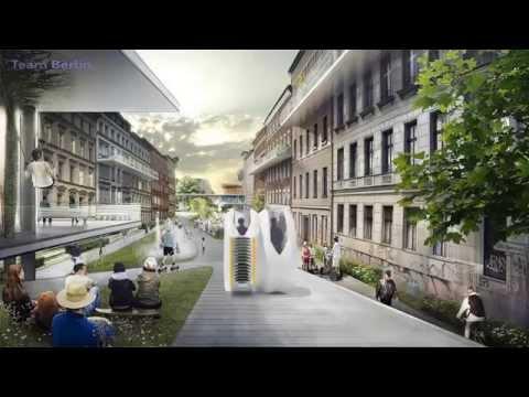 Projekt futurystycznego Berlina, zaprezentowany na konkurs Audi Urban Future Award 2014