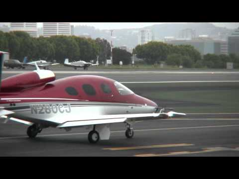 Cirrus Vision SF50 Low Level Fly By at SMO