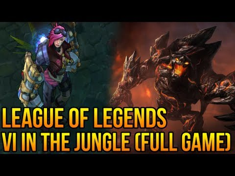 League of Legends - Vi Jungle &quot;First impressions&quot; (Full Gameplay/Commentary) Won a 4v5!