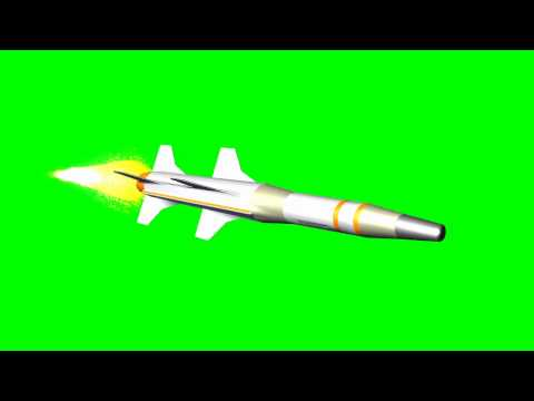 Missile flying -  free green screen effect HD