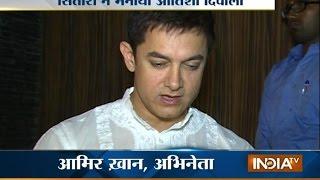 Aamir Khan celebrates Diwali - INDIATV