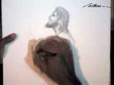 Jesus - Desenho em grafite por Nathan - Chargemania