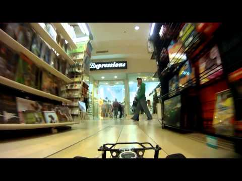 FPV GoPro RC car in Shopping Mall Christmas Shopping Slash