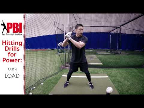 Baseball hitting drills for Power - Part 4 Load, Proper form and common mistakes