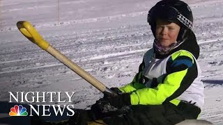 The New Winter Sport You Can Do At Home | NBC Nightly News - NBCNEWS
