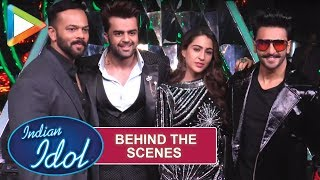 Behind The Scenes: Rohit Shetty, Sara Ali Khan, Rohit Shetty on the sets of Indian Idol 10 - HUNGAMA