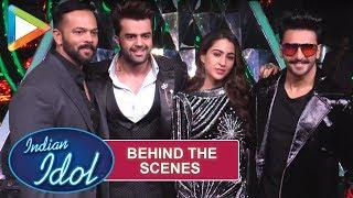 Behind The Scenes: Rohit Shetty, Sara Ali Khan, Rohit Shetty on the sets of Indian Idol 10 - HUNGAMA