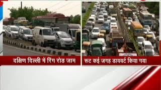 Massive traffic jam in South Delhi on Ring Road - ZEENEWS