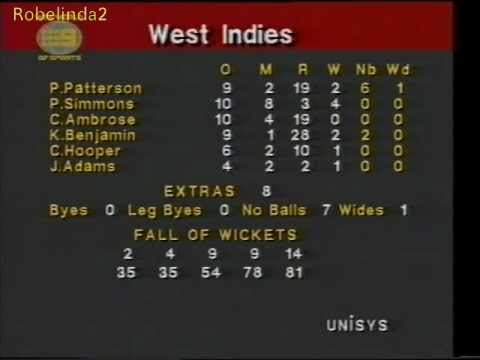 When Phil Simmons bowled one-day cricket's most economical spell to outsmart Pakistan at Sydney