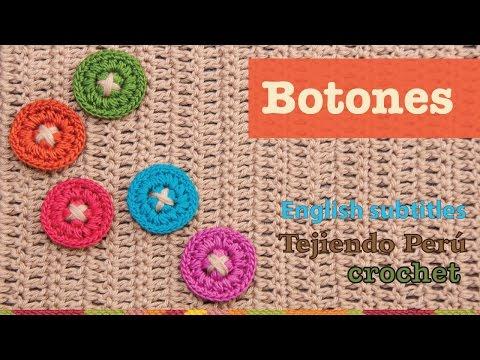 Mini tutorial #2: botones tejidos a crochet / ENGLISH SUBTITLES: crochet buttons