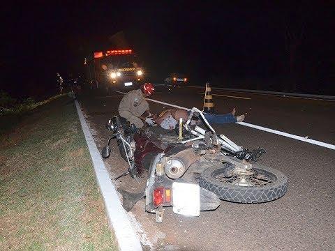 Ciclista fica ferido após ser atingido por moto na BR-419