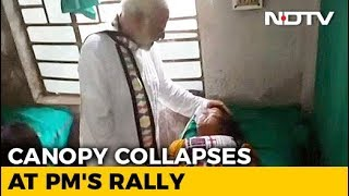 15 Injured After Canopy Collapses At PM Modi's Rally In Bengal - NDTV
