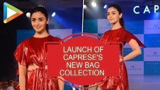 Alia bhatt SHINES  on the ramp on her launch of Caprese's new bag collection - HUNGAMA