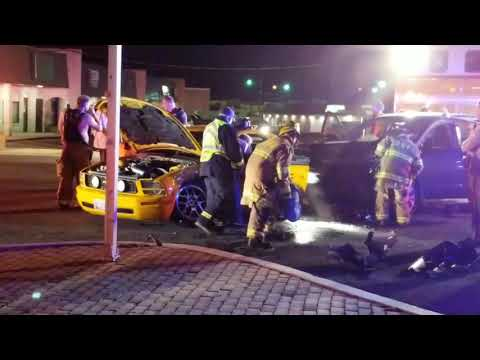 Motor vehicle collision sends one to trauma center