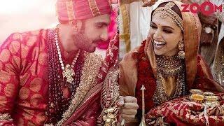Ranveer wears brocade sherwani for his Sindhi wedding | Deepika drapes Gold silk saree | Style Today - ZOOMDEKHO