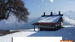 Snowfall turns hill stations into winter wonderland - INDIATV