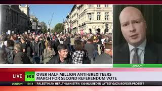 Over half million anti-Brexiteers march for second referendum vote - RUSSIATODAY