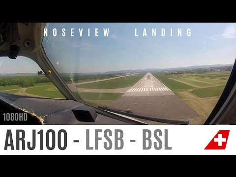 ARJ visual Landing in Basel : Gopro2 HD test