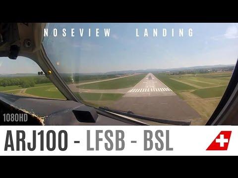 ARJ visual Landing in Basel : Gopro2 HD test
