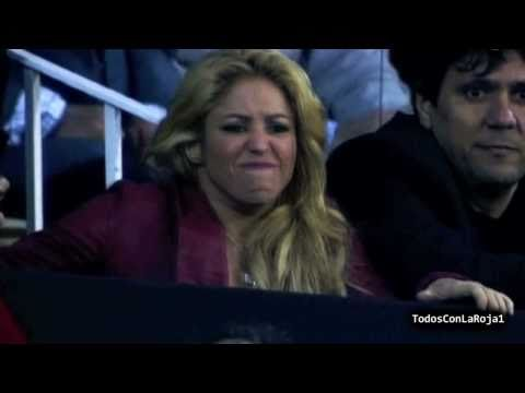 Shakira reaction seeing Gerard Pique HD Barcelona 0 1 Real Madrid