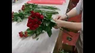Флористика для начинающих: как составить букет из роз своими руками (мастер класс).