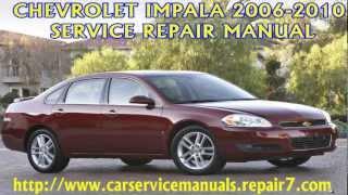 chevrolet impala 2006 2007 2008 2009 2010 manual manual de rh youtube com 2006 chevy impala owners manual pdf 2017 Chevrolet Impala