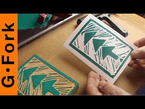 DIY Greeting Cards - Lino Block Printing - GardenFork