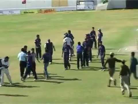 Fight in a cricket match in India