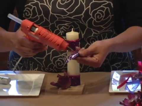 Recuerdo para XV años con velas y dulces - DIY Sweet Sixteen souvenir