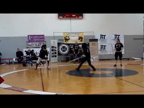 Fechtschule America 2012: Longsword Tournament Pool 11 - Dustin Reagan & Roberto Martinez-Loyo