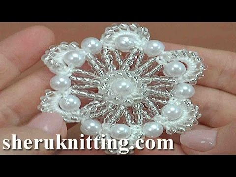 Crochet Beaded Flower Tutorial 161