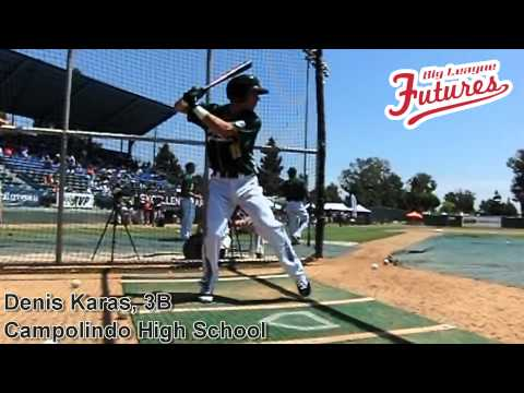 Denis Karas, 3B, Campolindo High School, Swing Mechanics at 200 fps