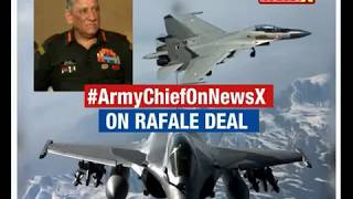 Army Chief on NewsX | On Rafale deal - NEWSXLIVE