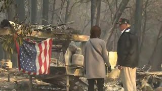 With More Than 1,000 People Unaccounted For, Trump Visits California Fire Zones | NBC Nightly News - NBCNEWS